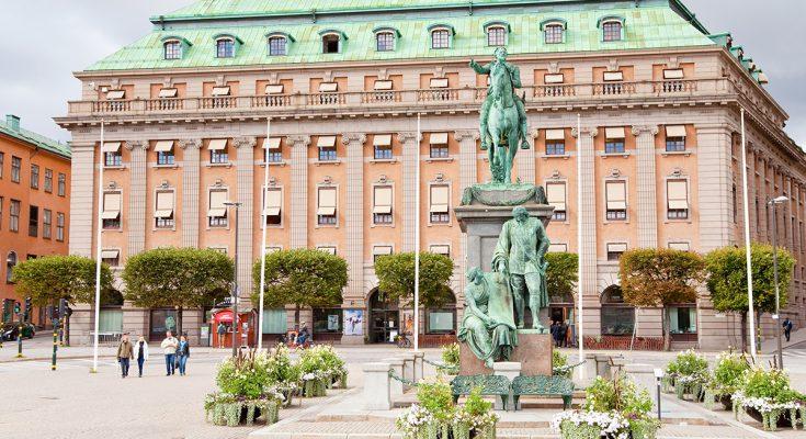 Площадь Густава II Адольфа в Стокгольме