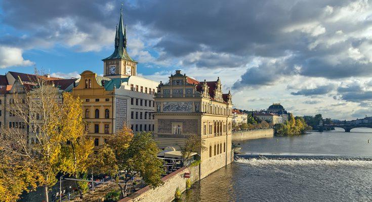 Набережная Сметаны в Праге