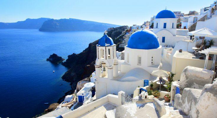 Остров Санторини в Греции