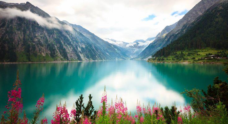 Озеро Шлегайс в Австрии