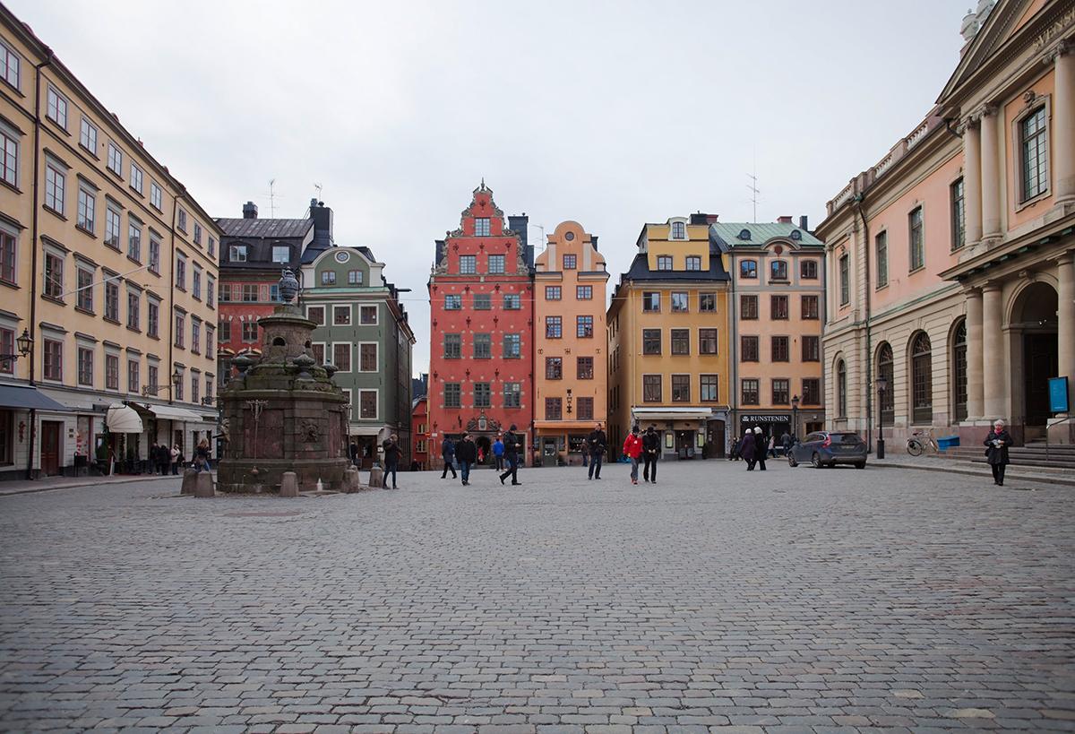 Площадь Стурторьет в Стокгольме