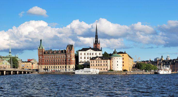 Остров Риддархольмен в Стокгольме