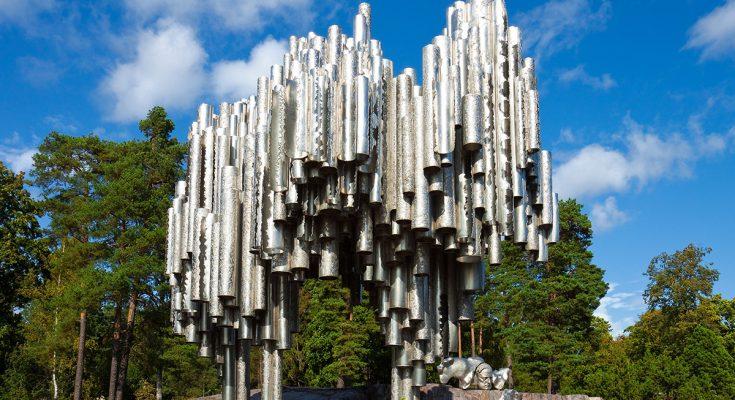 Памятник Сибелиусу в Хельсинки